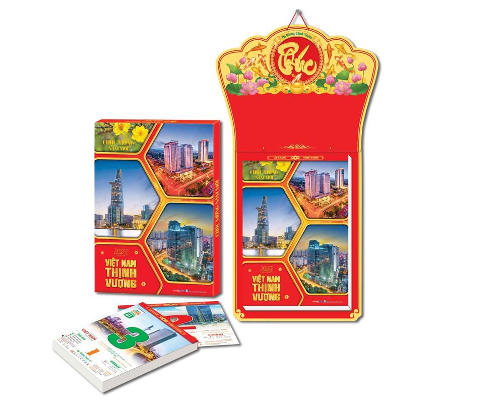 Bộ Lịch Bloc Siêu Cực Đại ĐB (35x50cm) Việt Nam thịnh vượng